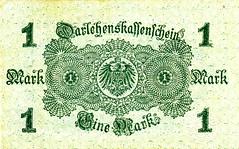 Berlin, 1 Mark, 1914 (Iliazd) Tags: austria heller 1920 notgeld germaninflationarycurrency emergencymoney germanpapermoney