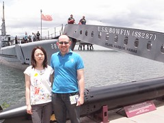 Dave and Risa at the USS Bowfin