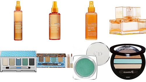 summer hair, makeup, & perfume