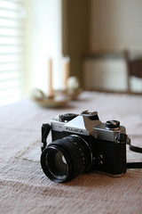 Fujica ST705 with 55mm Fujinon f/1.8 (Airchinapilot) Tags: 35mm gear cameras manual fujicast705 filmcameras manualcameras
