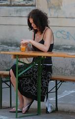 Orange Jar (Catalin Pruteanu) Tags: street orange woman june canon arthur strada verona romania jar delivery bucharest bucuresti iunie canon70300 pictor arthurverona canon400d streetdelivery