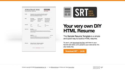 Curriculum Vitae HTML Template
