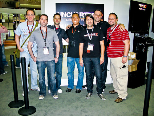 Most (but not all) of the Naughty Dogs working at E3 2009