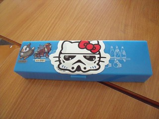 Storm Kitty on pencil box in KOREA