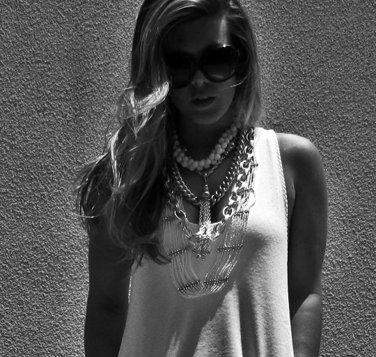 silver-white-layered-chain-necklaces-bw