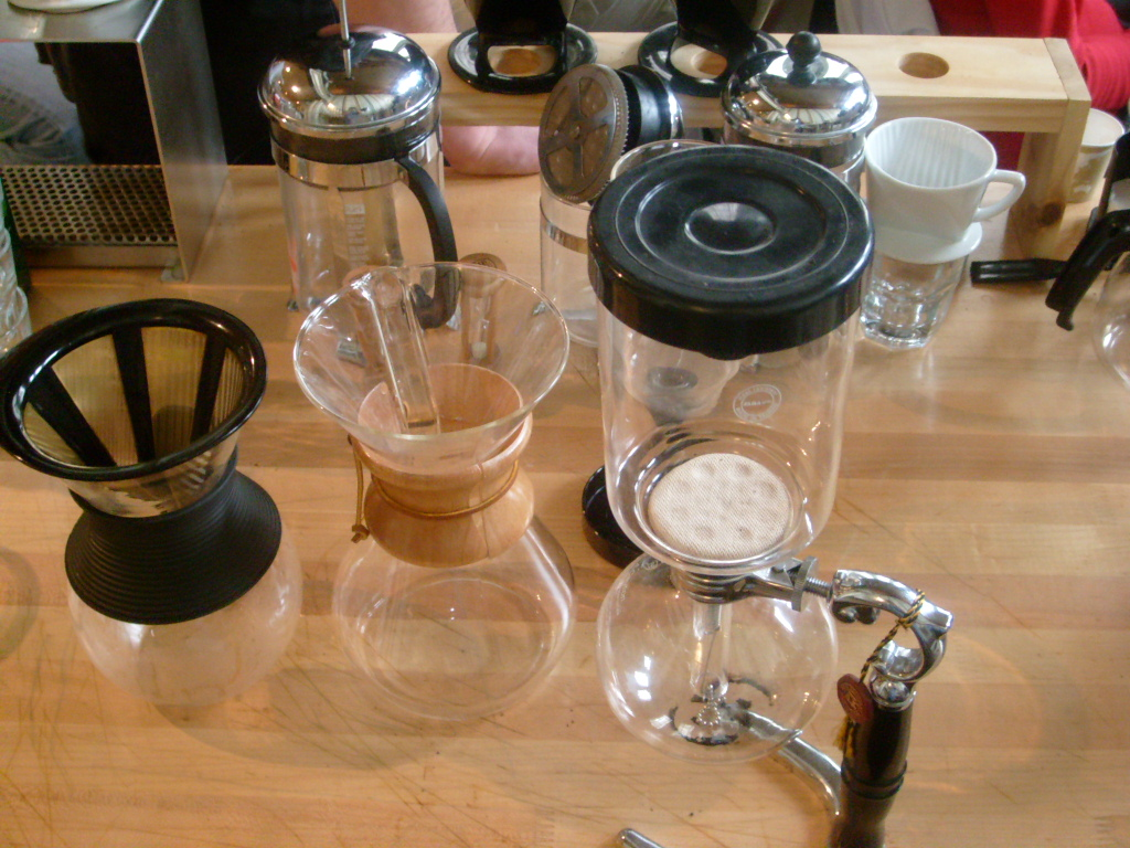 Alternative Brew Station included varrious pour overs and siphons