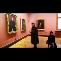 And then we faced the Bourbon Room (Sator Arepo) Tags: vienna leica pink portrait art look hat museum painting austria spain king gallery sitting artgallery room coat surprise bourbon viena 169 monarchy velazquez dlux wein kunsthistorisches kunsthistorischesmuseum felipeiv zurbaran dlux4