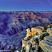 Grand Canyon overhang in blue light