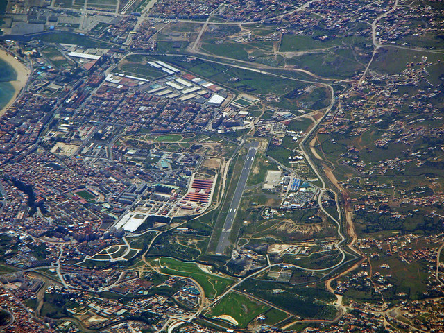 Melilla airport and city
