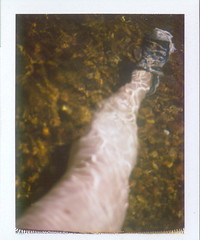 crazyleg underwater (EllenJo) Tags: arizona me self polaroid underwater leg sedona converse selfportait swimminghole chucktaylor landcamera verdevalley saturdayafternoon coconinonationalforest oakcreek 89b instantfilm fujifp100c colorpack2 ellenjo ellenjoroberts may2010 springtimeinarizona roidweek2010 may82010 narcisicismo