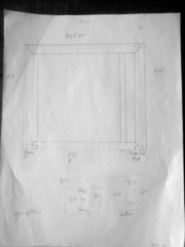 Plan of drawer framework base