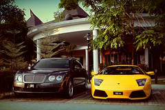 Grand/Sport (anType) Tags: italy car yellow italian asia continental exotic malaysia british lamborghini luxury supercar bentley sportscar w12 selangor shahalam murcielago v12 lambo murci flyingspur lp640 setiaalam worldcars setiaecopark jpmmotorsport gialloevros kotabharusuperdrive2010