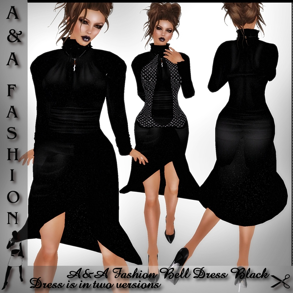 A&A Fashion Bell Dress Black
