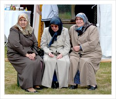 Hidrellez 2011. (Franc Le Blanc .) Tags: people sitting hijab sit seated