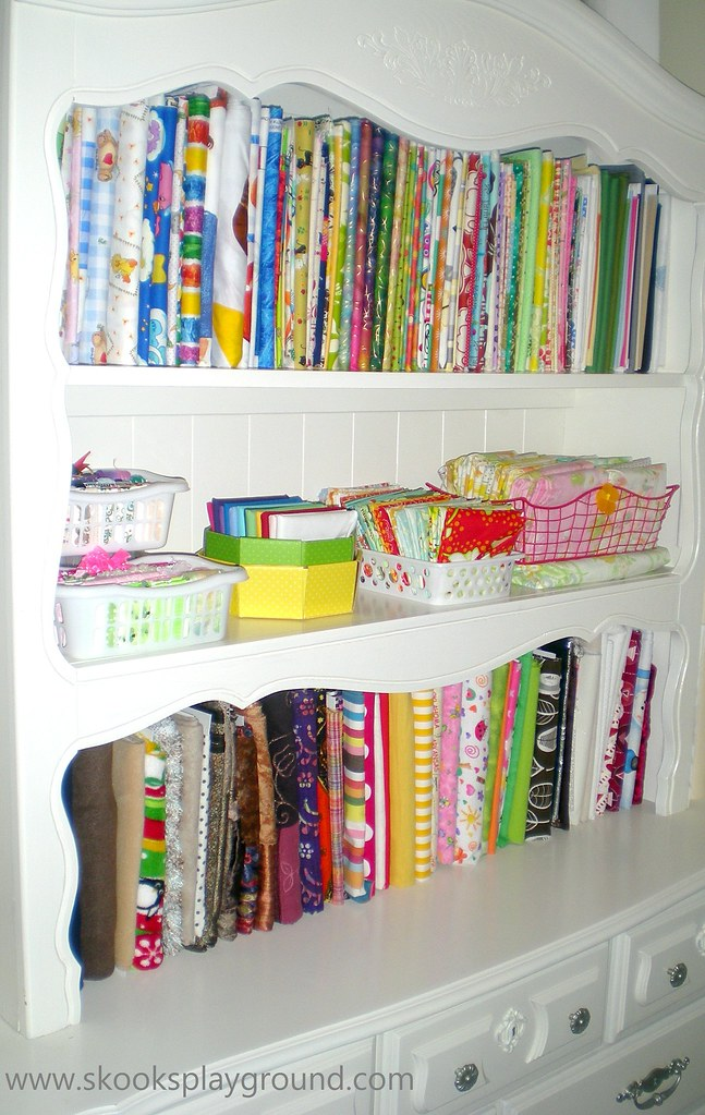 The Newly Reorganized Fabric Hutch