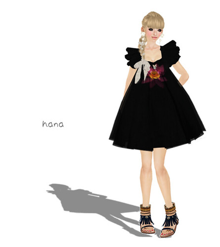 ::C'est la vie !:: Lotus dress(black)[BOX]