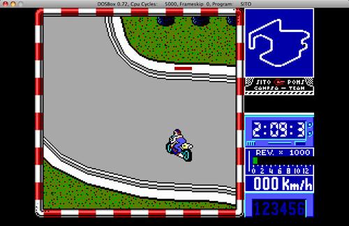 Captura de una de las emocionantísimas partidas que ofrecía Sito Pons 500cc Grand Prix