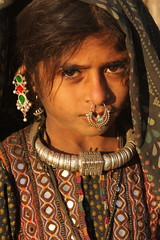 the jat - a hidden tribe in gujarat (Retlaw Snellac) Tags: travel people woman india tourism girl photography photo indian tribal nosering tribe ethnic islamic gujarat kutch bhuj jat hodka gujaratvisuals theperfectphotographer dhanetajat