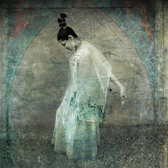 Gratitude (ElenaRay) Tags: woman white art church girl female illustration youth hair creativity do treasure dress respect spirit unique faith religion innocent young expressions belief hairdo style peaceful grace calm personality virgin bow bridesmaid trust innocence imagination unusual confirmation gown reverence spiritual passage virginity pure rite adolescent graceful humble curtsy individual purity humility