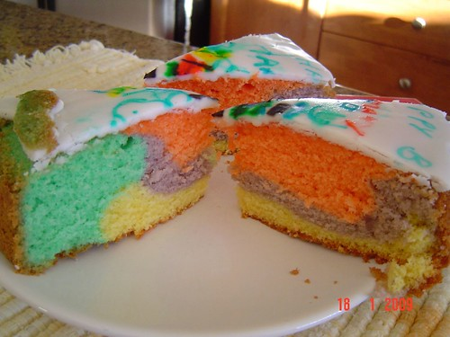 rainbow cake success
