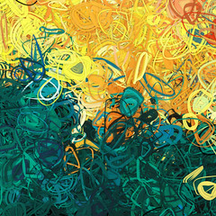 Composition #68 (PatrickGunderson) Tags: desktop blue red orange abstract green art lines yellow composition digital pencil painting square design aqua strokes contemporaryart circles render flash curves digitalart cyan patrick rings loops adobe programming generative exploration concentric generated rubberbands colorfield actionscript spirograph nonfigurative gunderson as3 epicycles