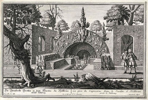 La Piece du Capricorne dans le Jardin d'Hellbrun (Salzburg Univ.) Danreiter 1735