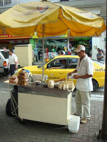 Food vendor in Pereira, Colombia.