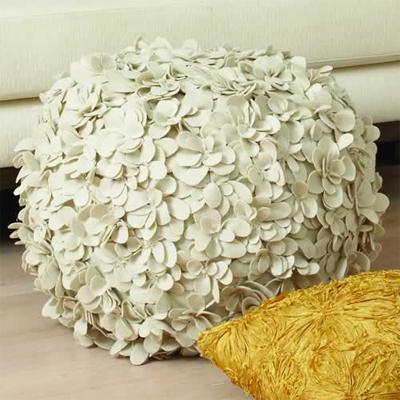 flower pouf