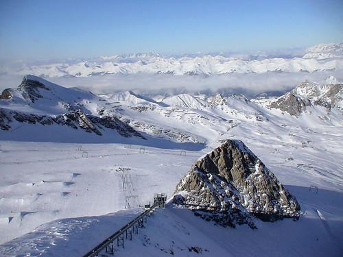 Вид с Кицштайнхорна (Kitzsteinhorn) в сторону Цель ам Зи (Zell am See