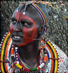 In Honour of International Womens Day 2009 (JuttaMK) Tags: kenya maasai beadwork masaimara eastafrica boma foc biogas mauekay