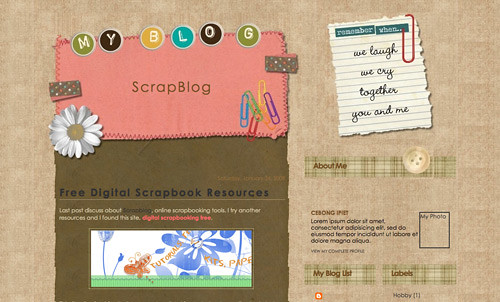 My Scrapblog Blogger Template