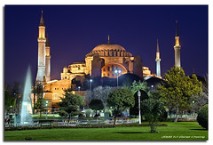 Hagia Sophia :: Blue Hour (DanielKHC) Tags: blue night digital turkey interestingness high nikon dynamic istanbul explore hour range dri sophia hdr blending hagia d300 dynamicrangeincrease tamron1750mmf28 danielcheong danielkhc