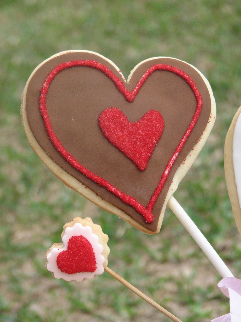 Decorated Sugar Cookie Hearts
