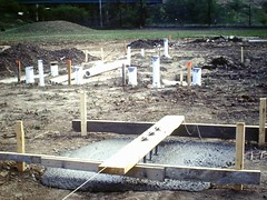 Bldg Foundation 01 (Douglas Coulter) Tags: 1986 mbc outsideconstruction mortonbiblechurch