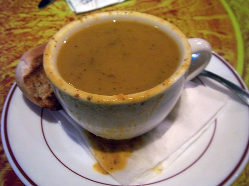 Curry sweet potato soup, Full Plate