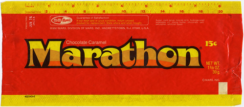 Marathon bar wrapper - M&M Mars - 1973-1974