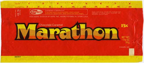 Marathon bar wrapper - M&M Mars - 1973-1974