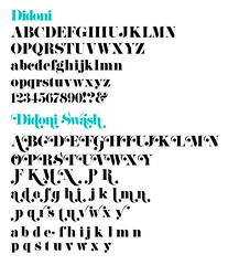 Didoni with Swashes (daylight444) Tags: fonts typeface swash didoni