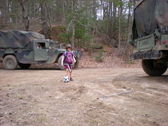 12 - Sophie With Soccer Ball Near Garrett Farms
