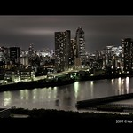 Tokyo Night View Panorama from Park Axis Toyosu