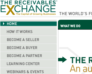 Receivables Exchange Web Site