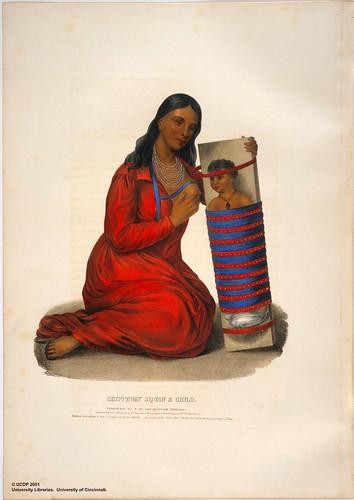 025-Squaw Chippeway y niño-Henry Inman 1838