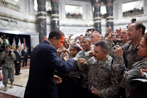 Obama and Soldiers