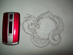 Size meter (DragonSEL) Tags: tattoo dragon drawing size sphere libra