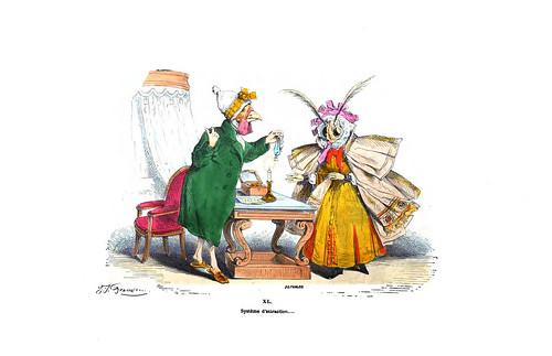 009-Les métamorphoses du jour (1869)-J.J Grandville
