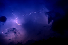 Lightening (mivan_via) Tags: sky storm nature rain weather clouds lightening nrtingen