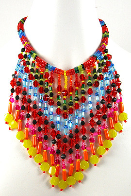 Festival of Fringe Necklace from The Beader's Color Palette by Margie_Deeb