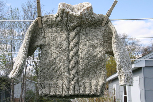 quirky granola baby sweater