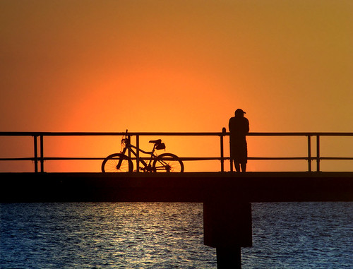 Cyclist's Sunset