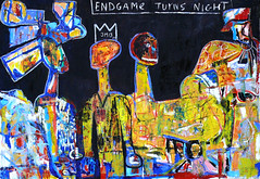 Endgame turns night (SoulSoundDuo) Tags: painting denmark artist contemporary rene australia canvas fecalface sinkjar soulsoundduo